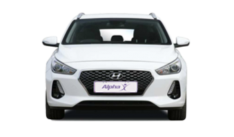 Front View of an Alpha Car Hire Hyundai i30 Intermediate Car
