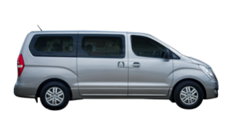 Side View of an Alpha Car Hire Hyundi iMax Van / People Mover