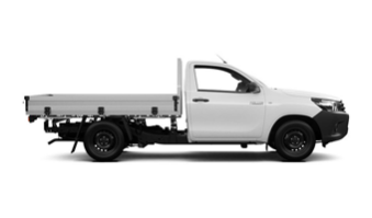 Side View of an Alpha Car Hire Toyota Handy Ute