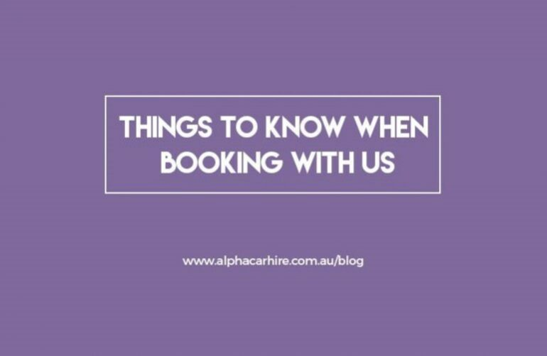 Things to know when booking with us | Alpha Car Hire